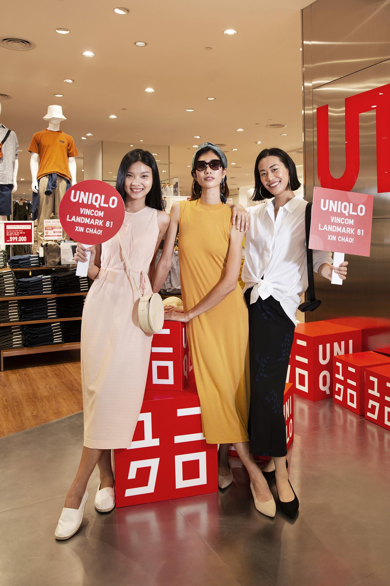 kols tại cửa hàng uniqlo vincom landmark 81