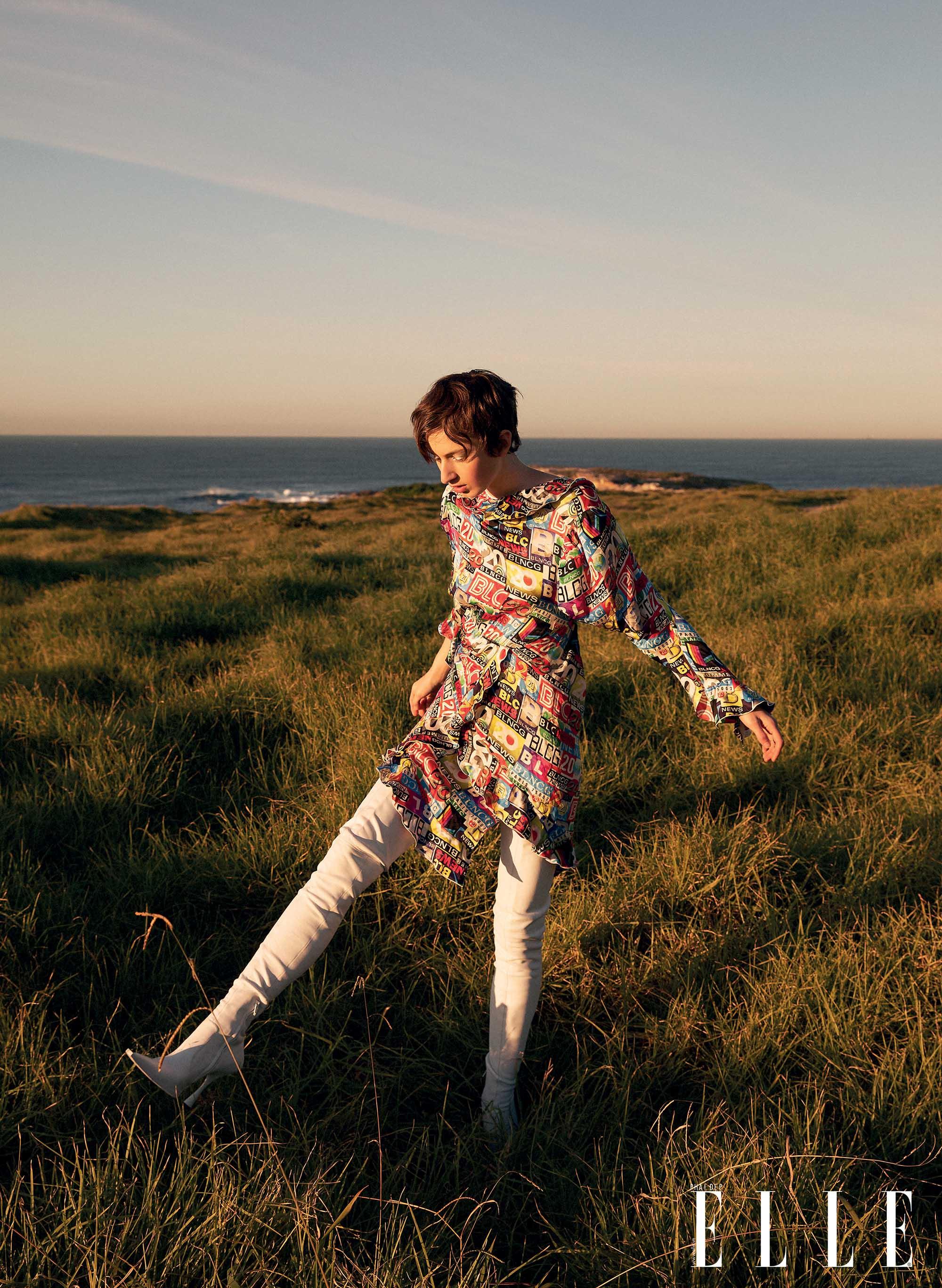 bộ ảnh thời trang Hè 2020 đầm vải nhiều họa tiết