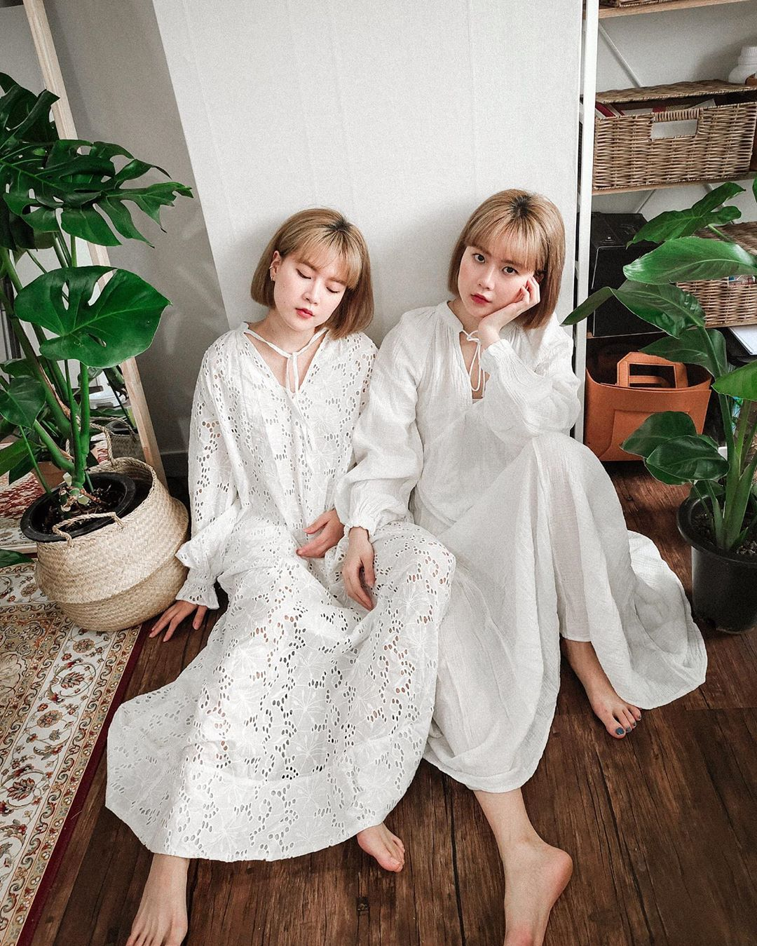 đầm ren trắng maxi vintage aesthetic q2han