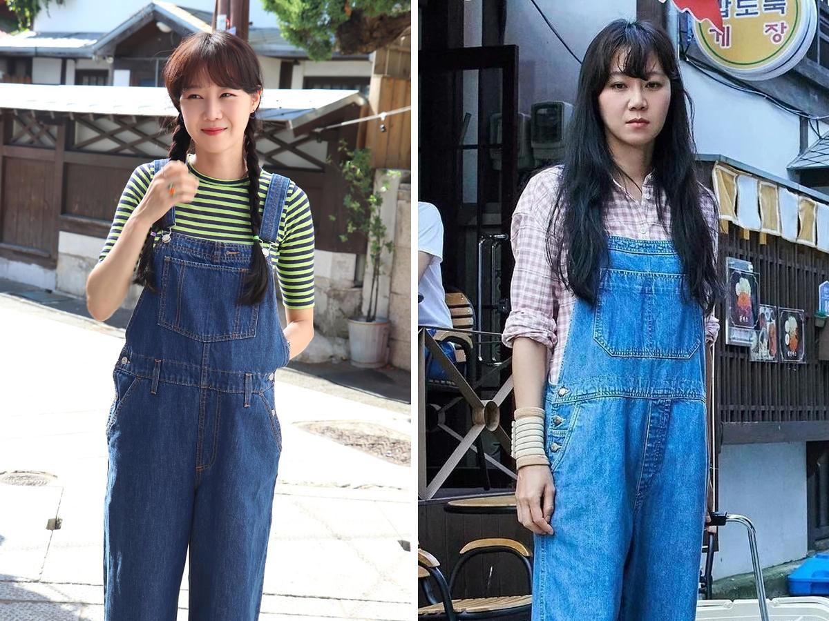 Thời trang trong phim khi hoa trà nở - Gong Hyo Jin mặc quần yếm jeans