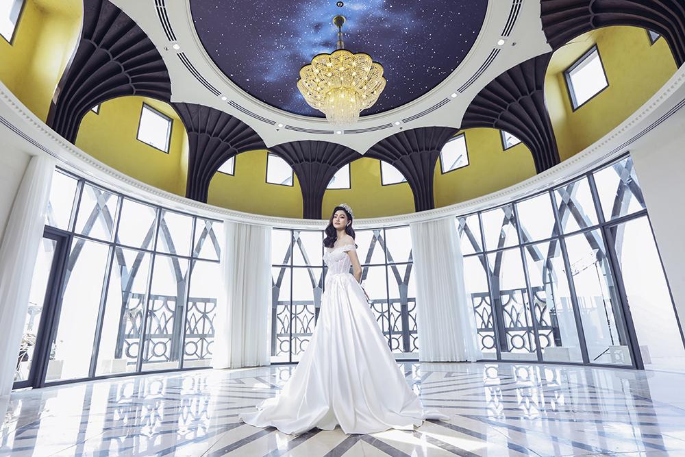 bst váy cưới im yours asiana plaza váy trắng trễ vai xòe