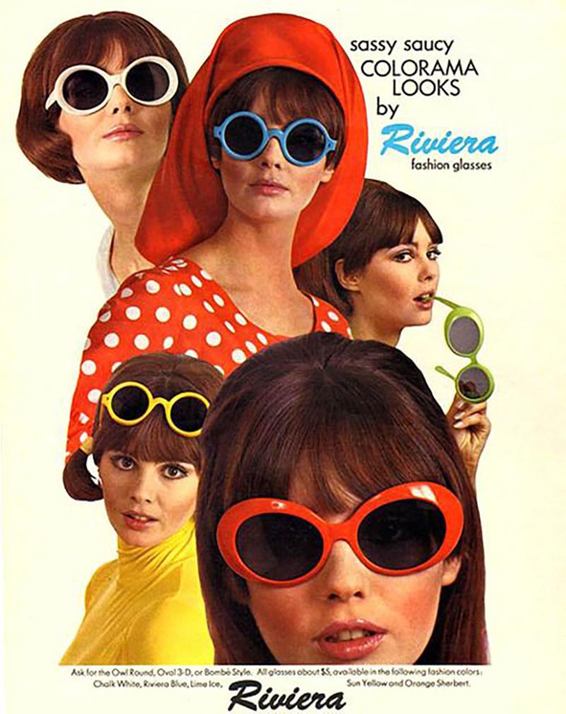 mắt kính retro 1960s