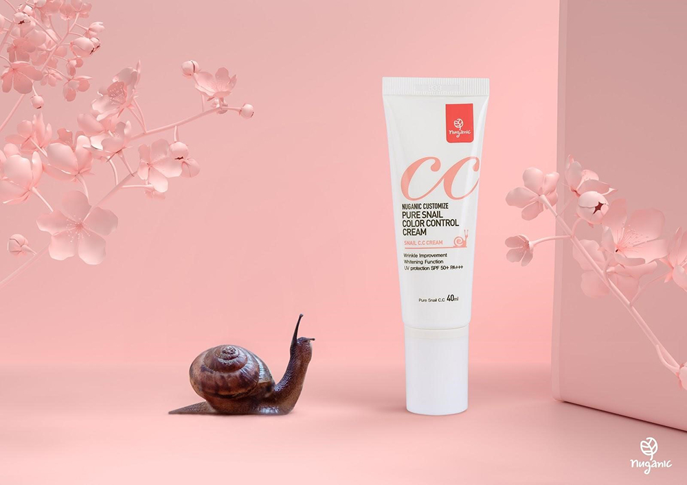 Kem chống nắng Nuganic Customize Pure Snail Color Control Cream