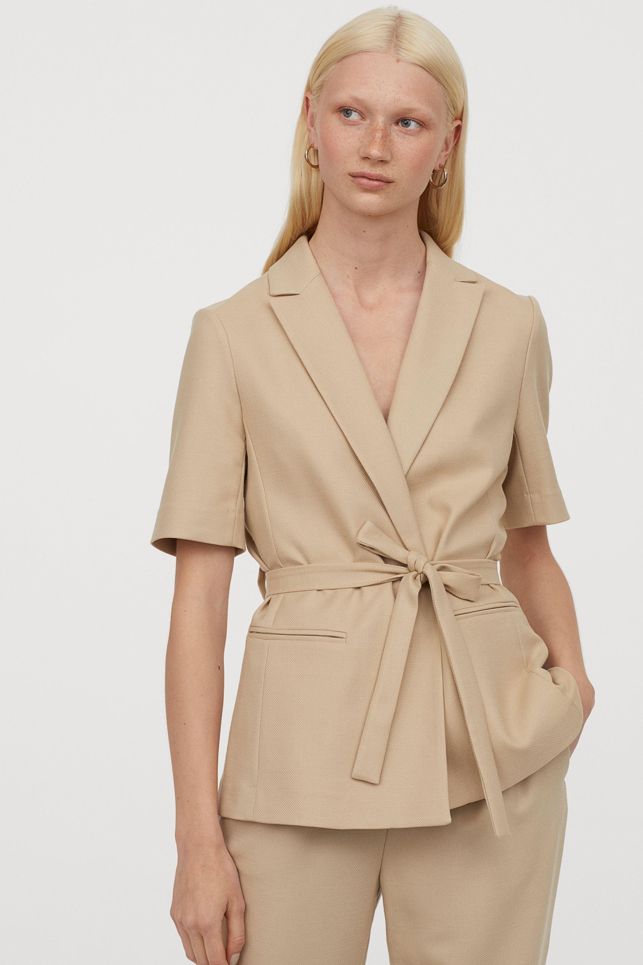 H&M short sleeve blazer