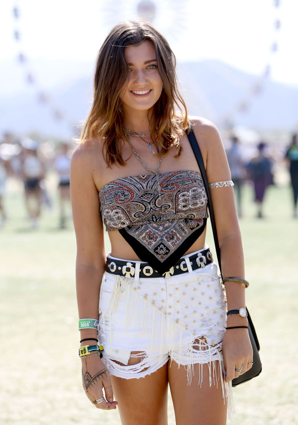 áo bandana at Coachella