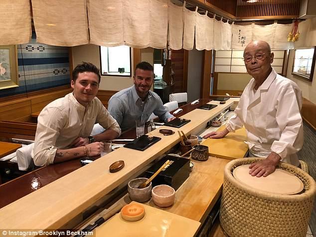 ikigai - Hai cha con David Beckham dùng bữa tại Sukiyabashi Jiro do đích thân ông Jiro Ono đứng bếp