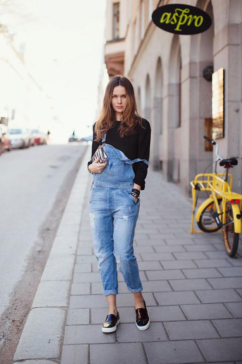 Style Caster quần yếm và giày lười