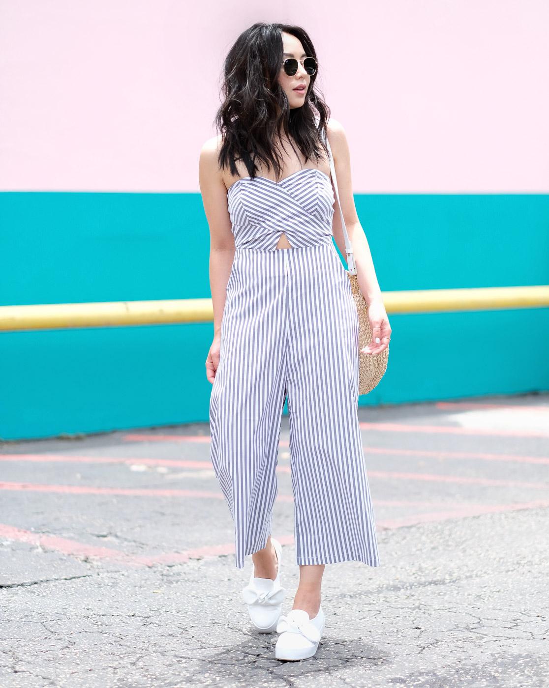 The Fancy Pants Report giày lười và jumpsuit