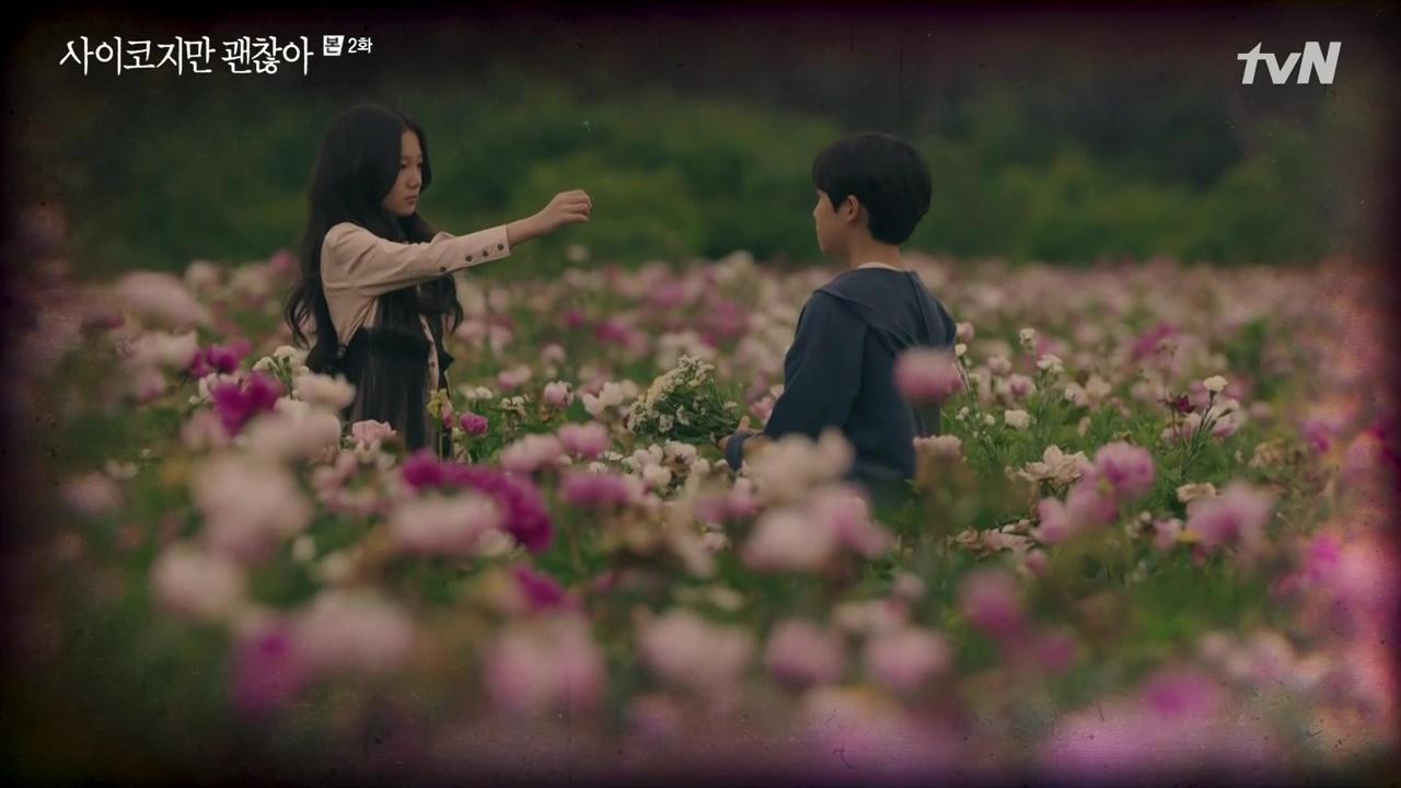cánh đồng hoa trong phim điên thì sao