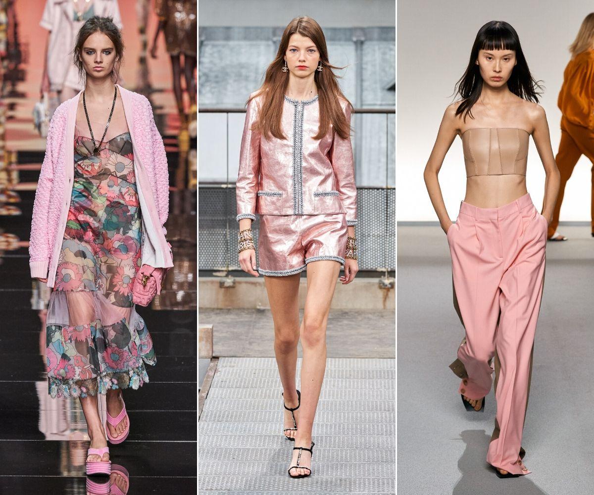 những thiết kế mang màu hồng thạch anh rose quartz mùa xuân hè 2020 fendi chanel givenchy