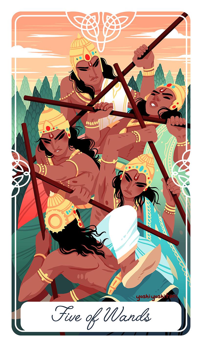 cung hoàng đạo cự giải five of wands