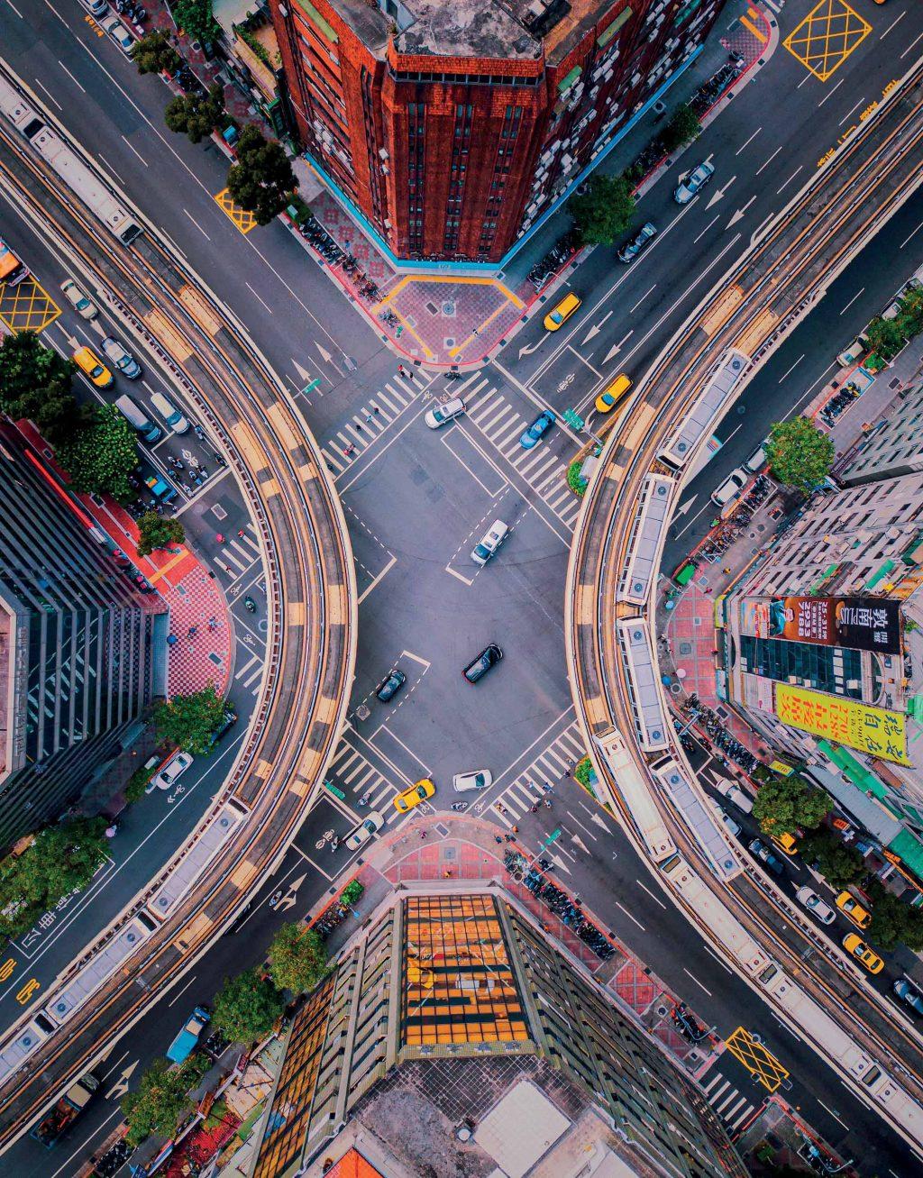 Đài Loan góc toàn cảnh đường phố