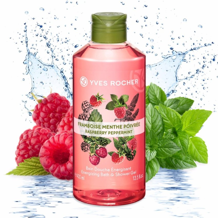 Gel tắm Yves Rocher Raspberry Peppermint Bath And Shower Gel - Làm đẹp cho cung Song Ngư