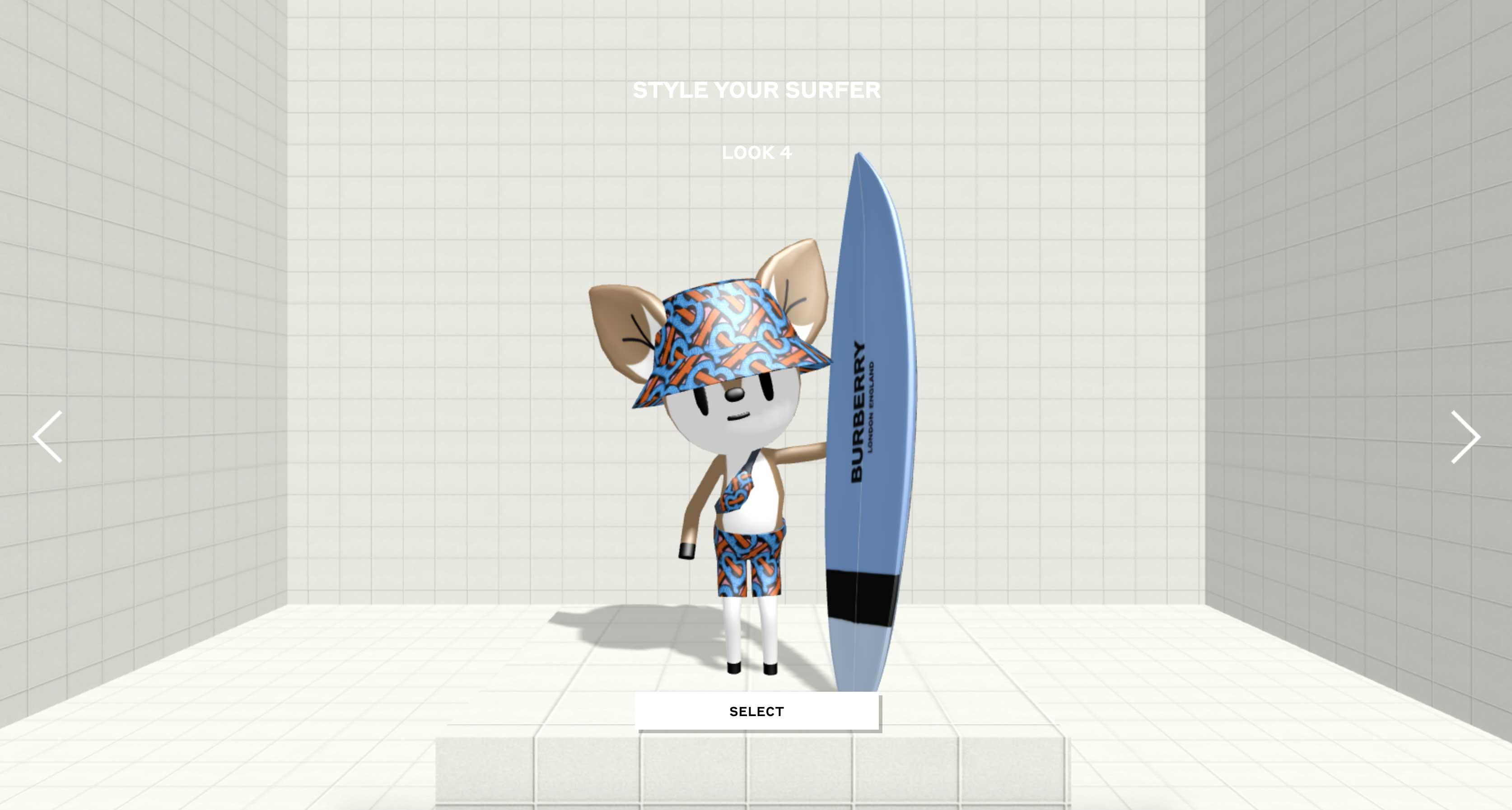 Tự tạo style cho nhân vật trong game B-Surf của Burberry