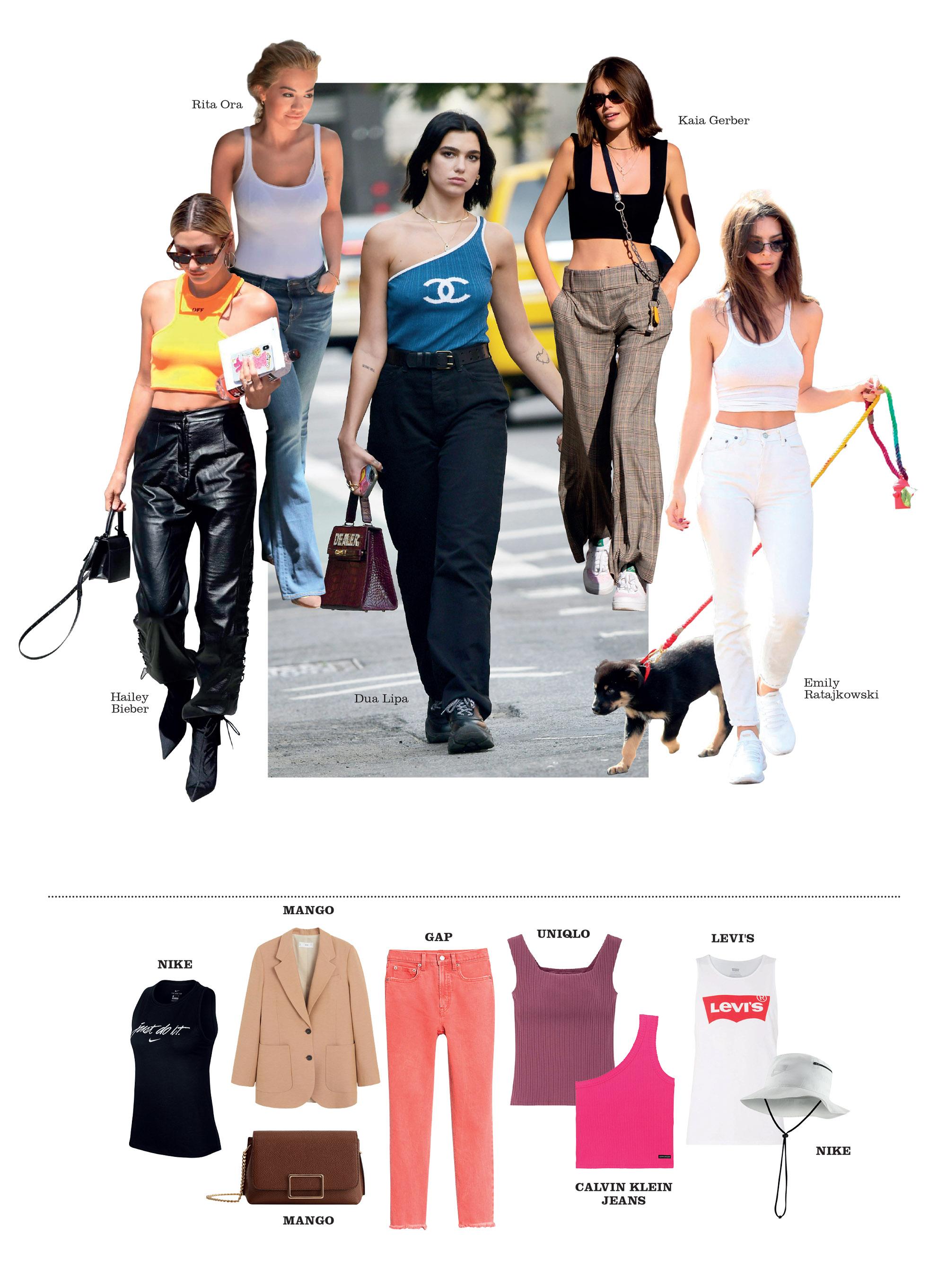 fashionista thế giới mặc đồ mùa hè áo tank top lửng