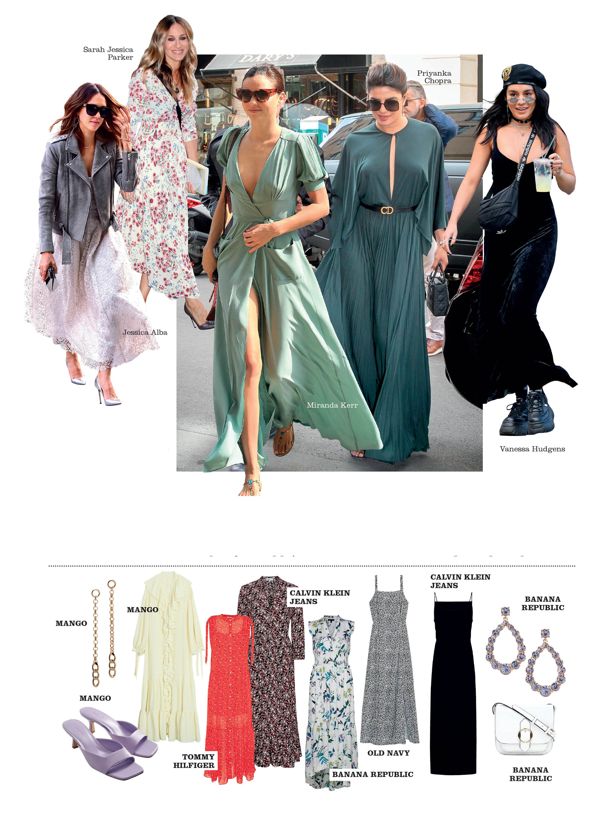 fashionista thế giới mặc đồ mùa hè đầm maxi dài