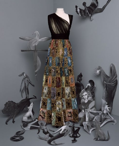 <br/>bst dior haute couture thu đông 2021 look 26