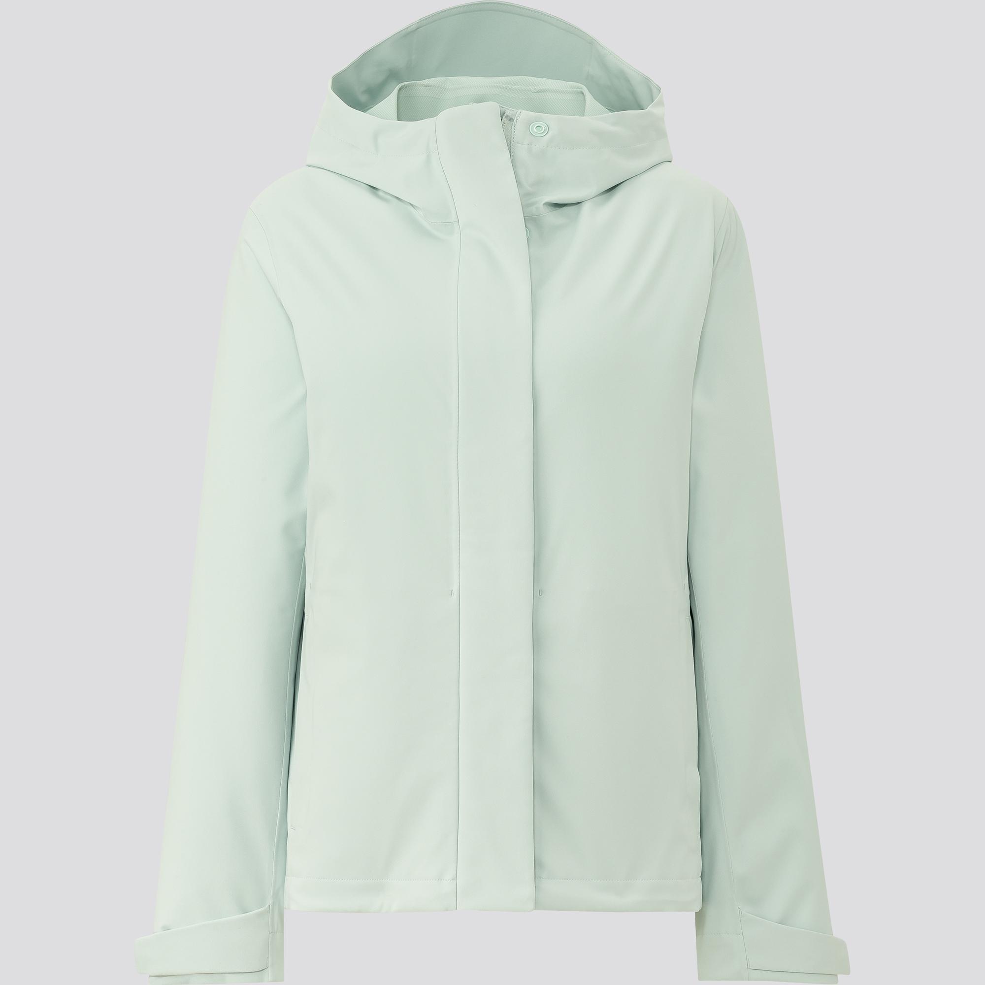 áo khoác parka blocktech uniqlo màu xanh mint chống tia uv