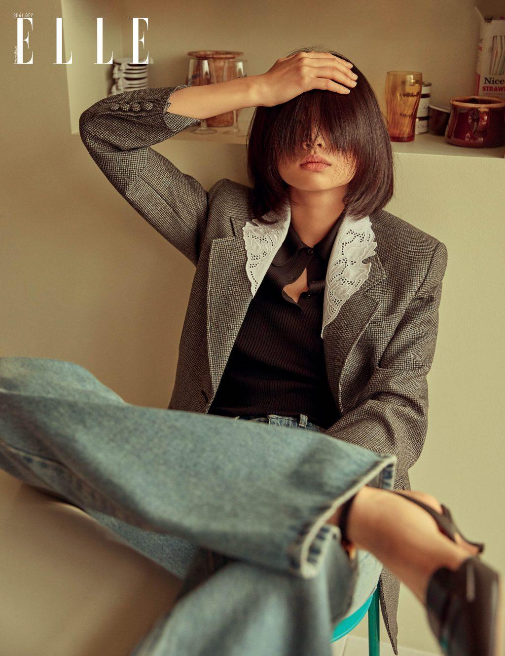 bộ ảnh người mẫu mặc áo blazer