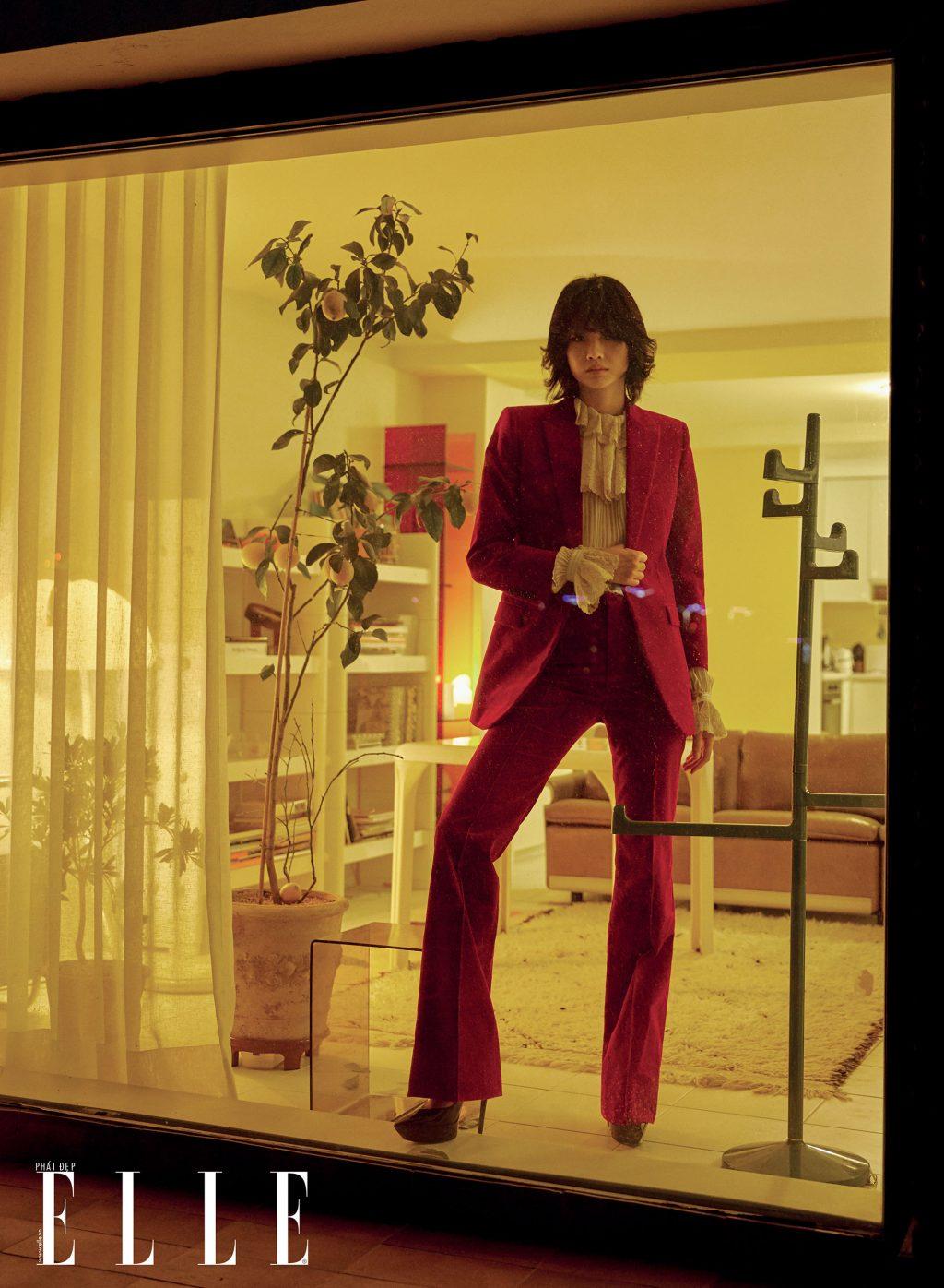 bộ ảnh người mẫu mặc vest