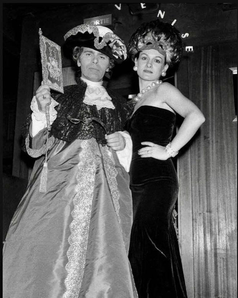karl lagerfeld và paloma picasso tại le palace