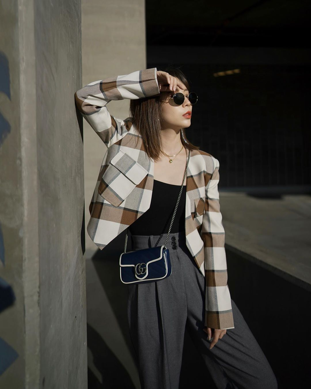 Dress code semi formal - áo khoác kẻ ô
