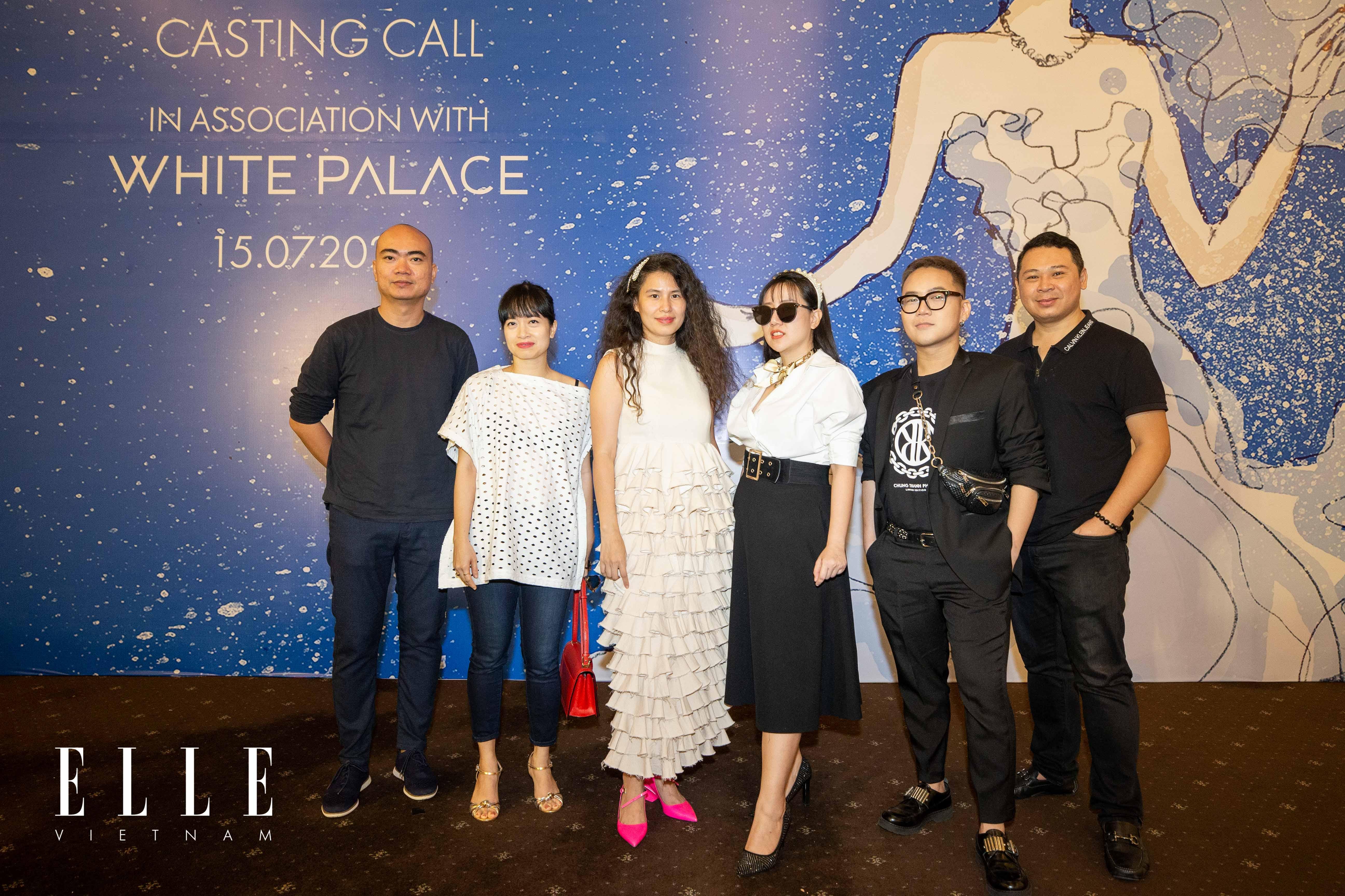 ban giám khảo của buổi tuyển chọn người mẫu cho elle wedding art gallery 2020 white palace