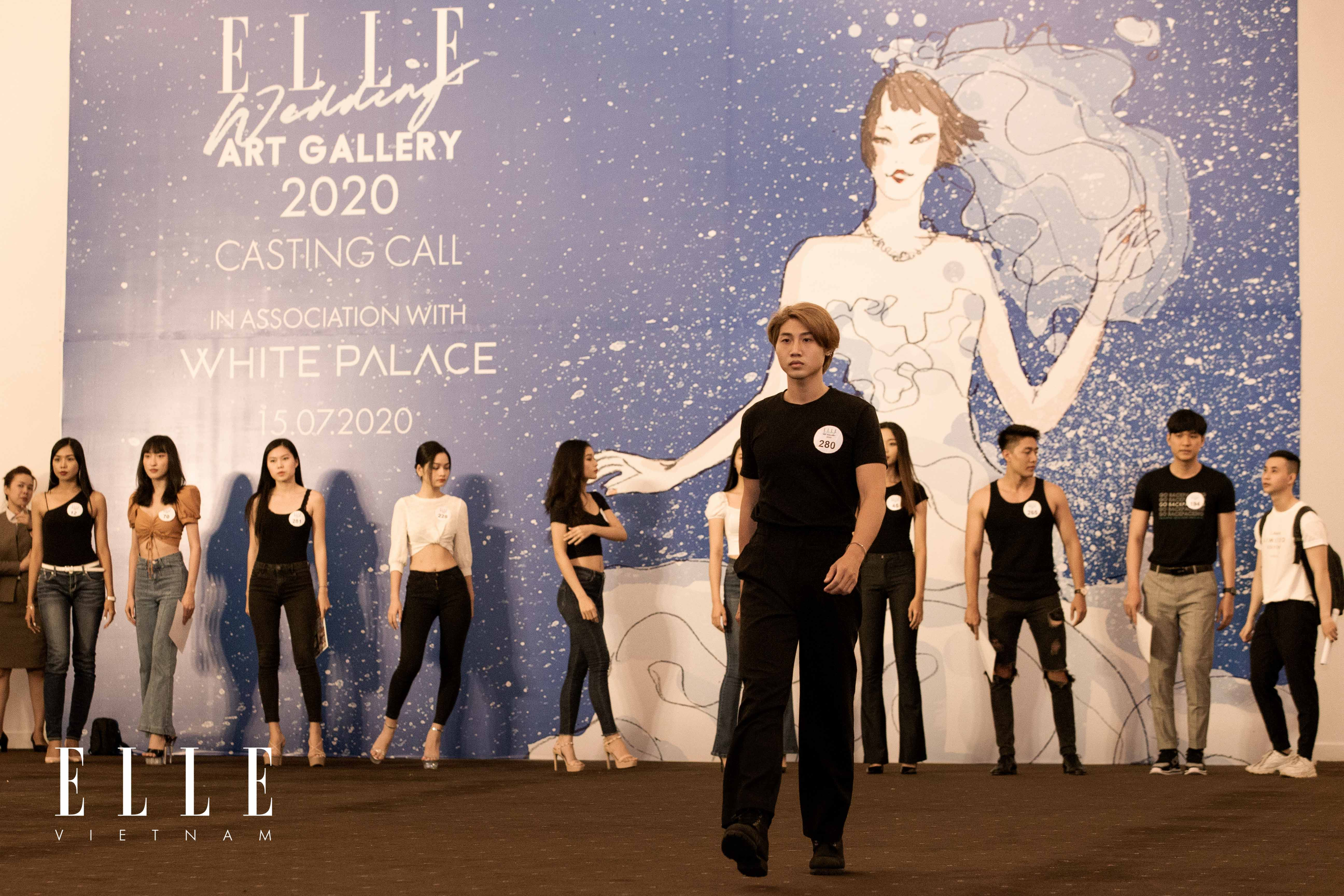 buổi casting người mẫu cho elle wedding art gallery 2020 tại white palace