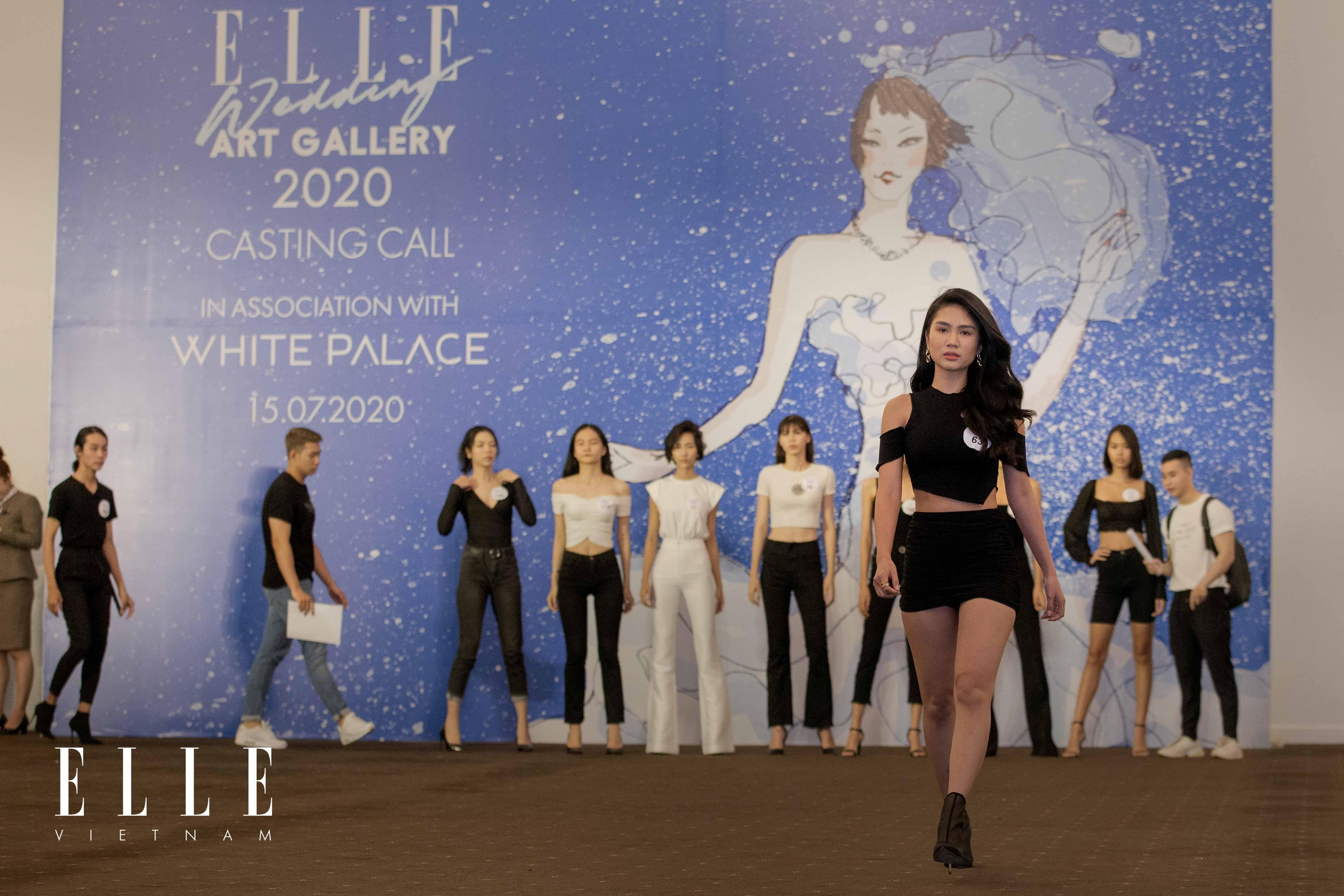 buổi casting người mẫu cho sự kiện elle wedding art gallery 2020 tại white palace