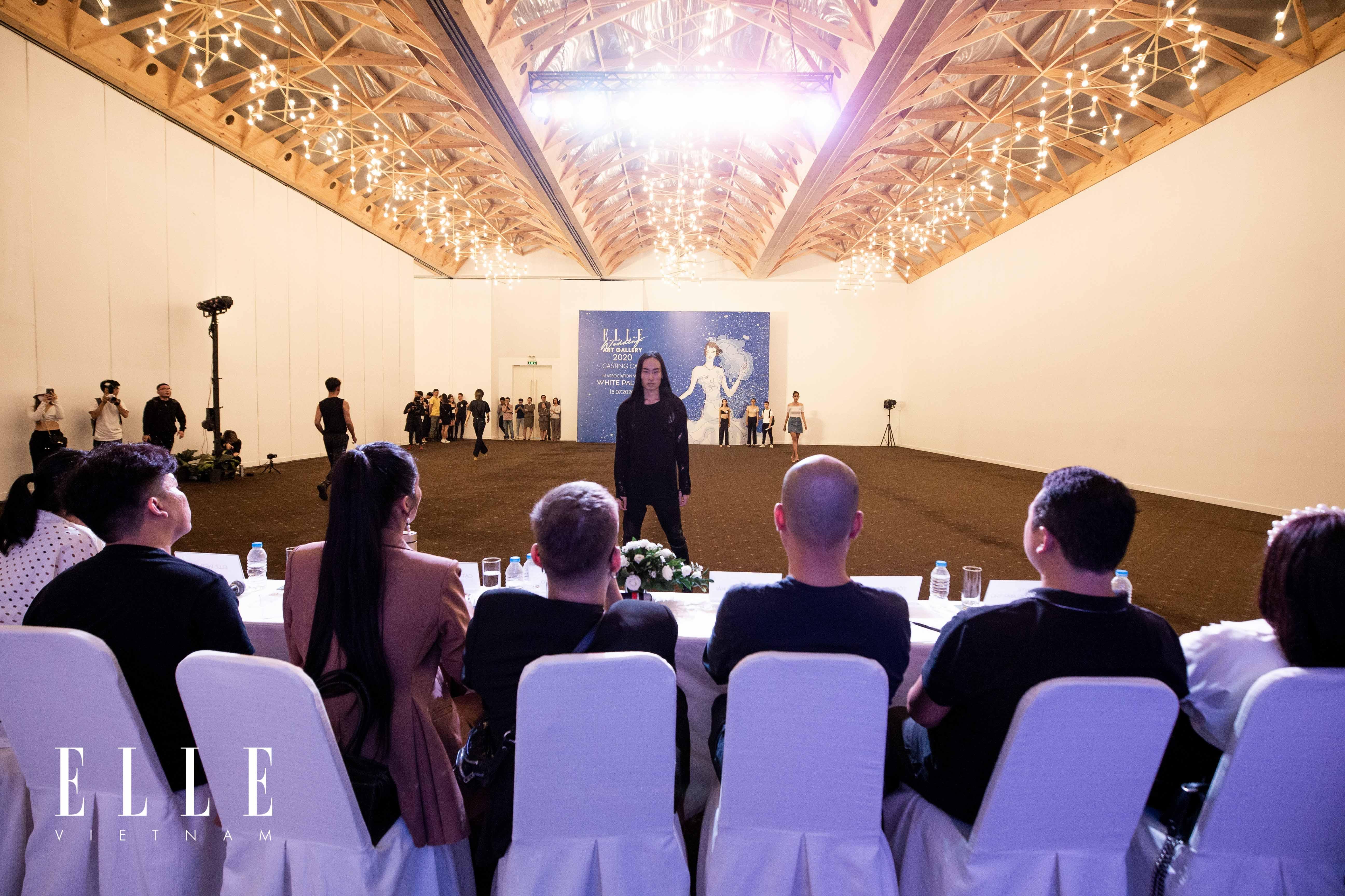 buổi tuyển chọn người mẫu cho elle wedding art gallery 2020 tại white palace