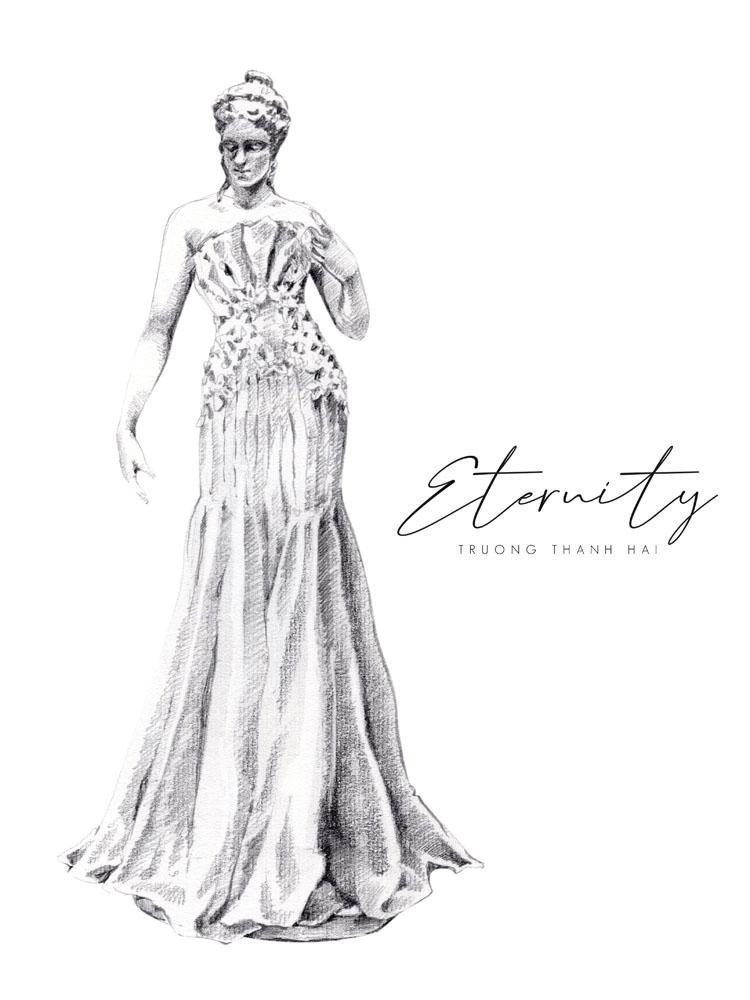 sketch bst thời trang cưới trương thanh hải elle wedding art gallery 3
