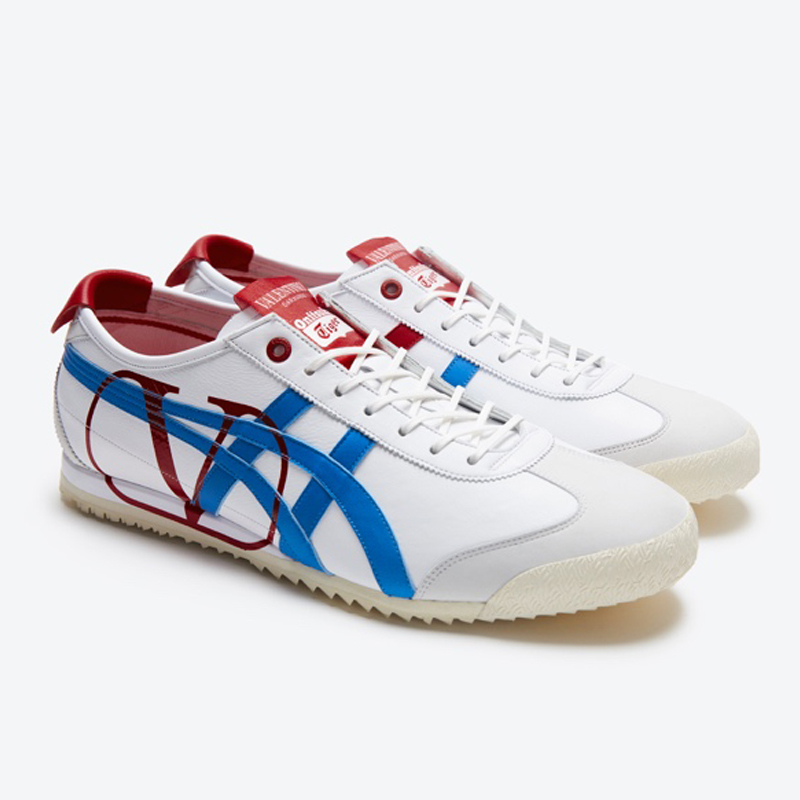 Giày thể thao Onitsuka Tiger x Valentino xanh đỏ