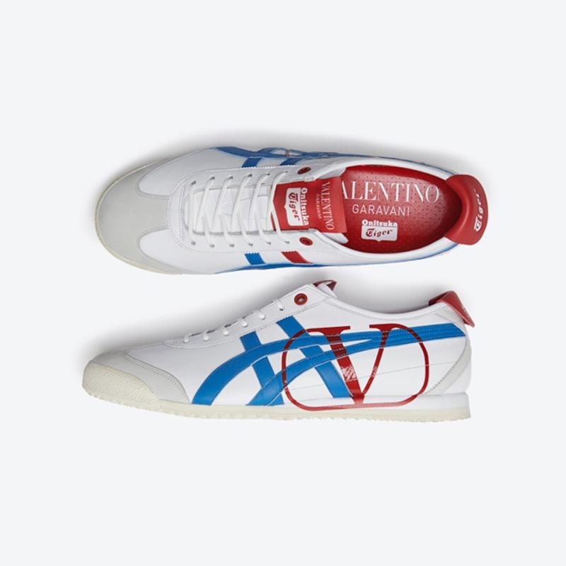 Giày thể thao Onitsuka Tiger x Valentino màu đỏ xanh