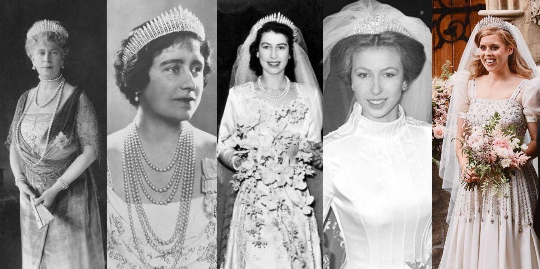 Truyền thống váy cưới hoàng gia Anh - Vương miện cổ điển qua các thời kì