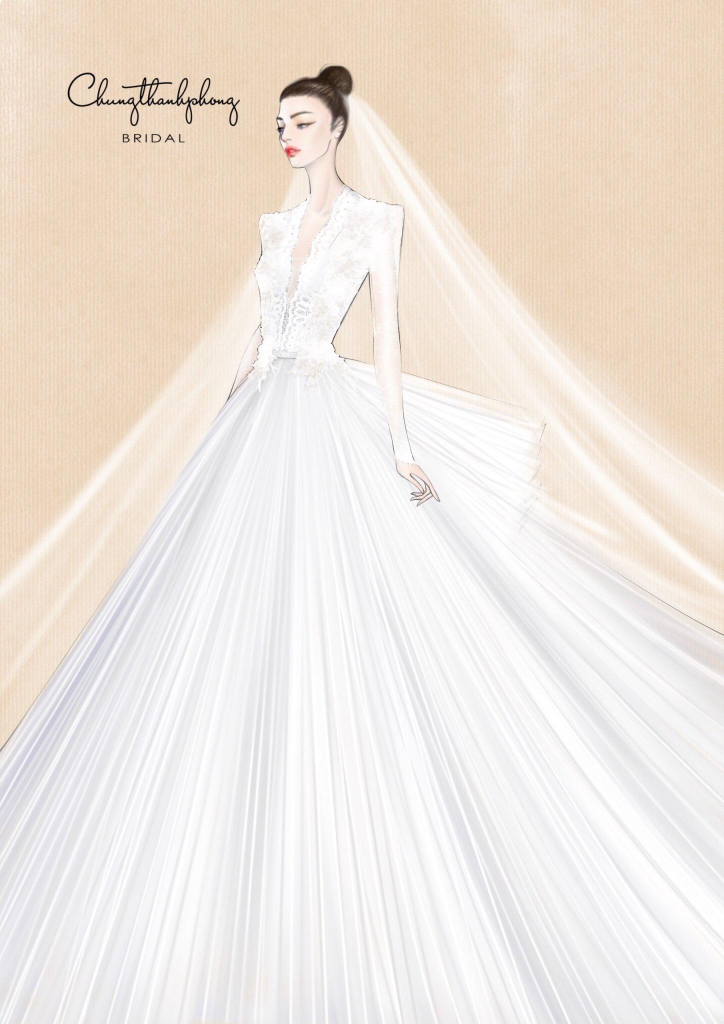 thiết kế áo cưới của ntk chun thanh phong bst dear my princess