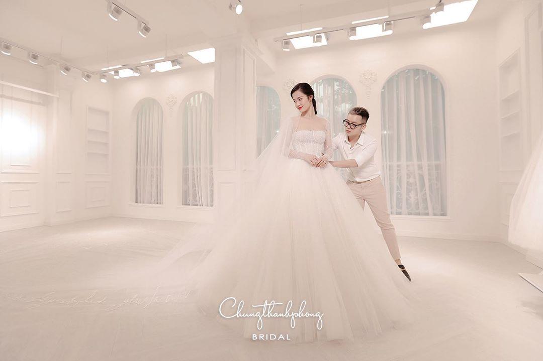 váy cưới của đông nhi chung thanh phong bridal