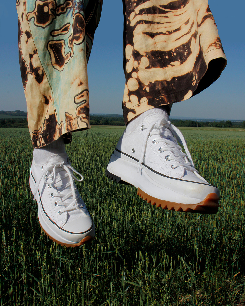 giày converse run star hike high top màu trắng