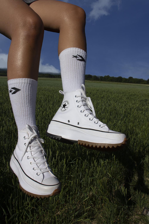 giày converse run star hike màu trắng high top