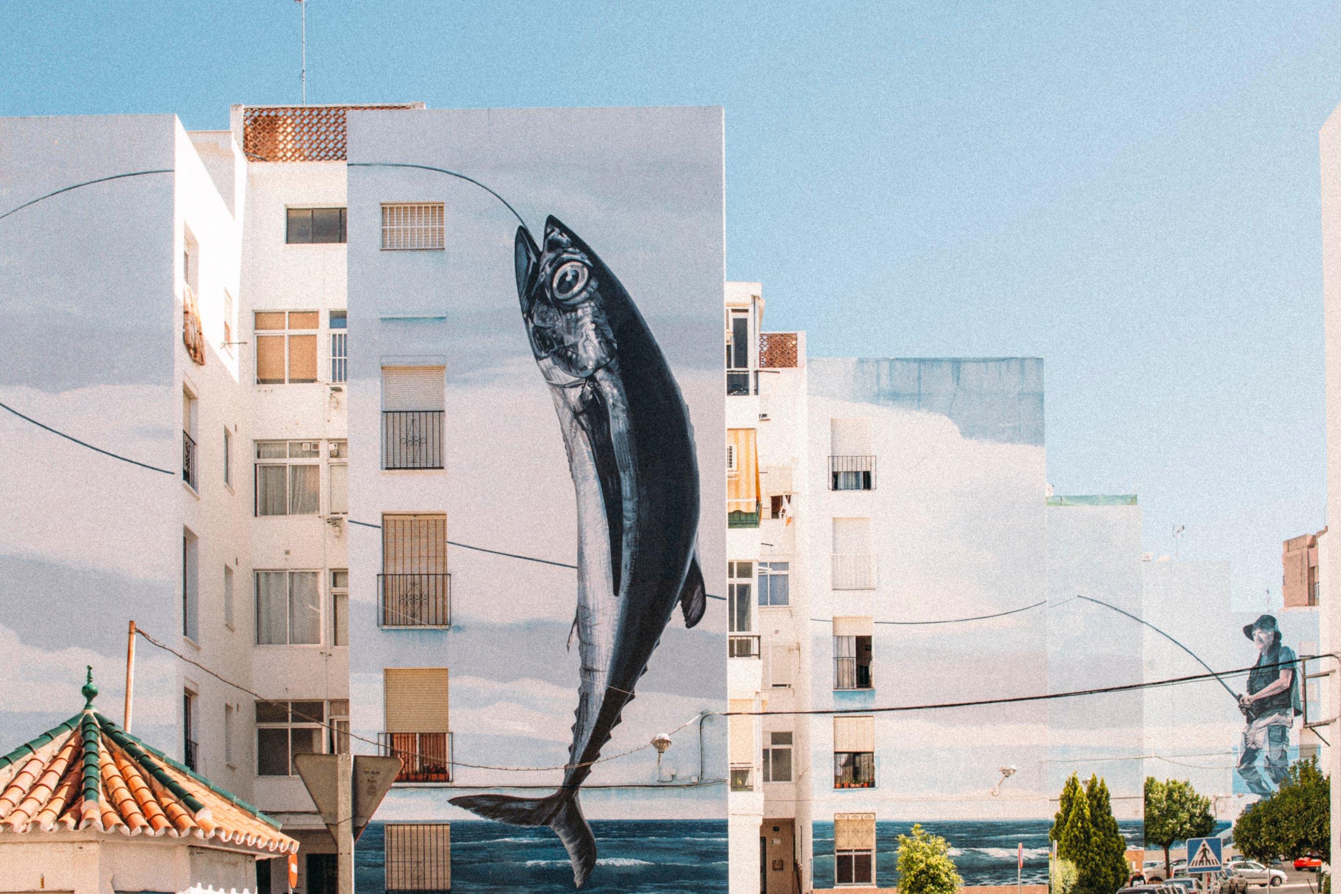 sự sáng tạo con cá tòa nhà