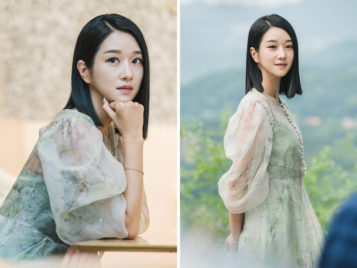 Seo Ye Ji mặc đầm voan dài tay phồng trong phim Điên Thì Có Sao