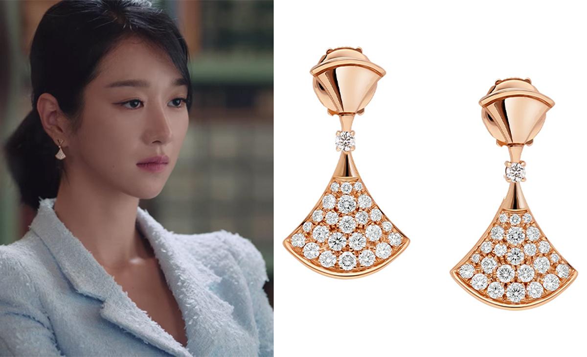 Seo Ye Ji đeo hoa tai BVLGARI trong Điên Thì Có Sao