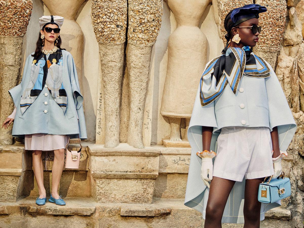 Trang phục màu pastel xanh baby - Lanvin resort 2021