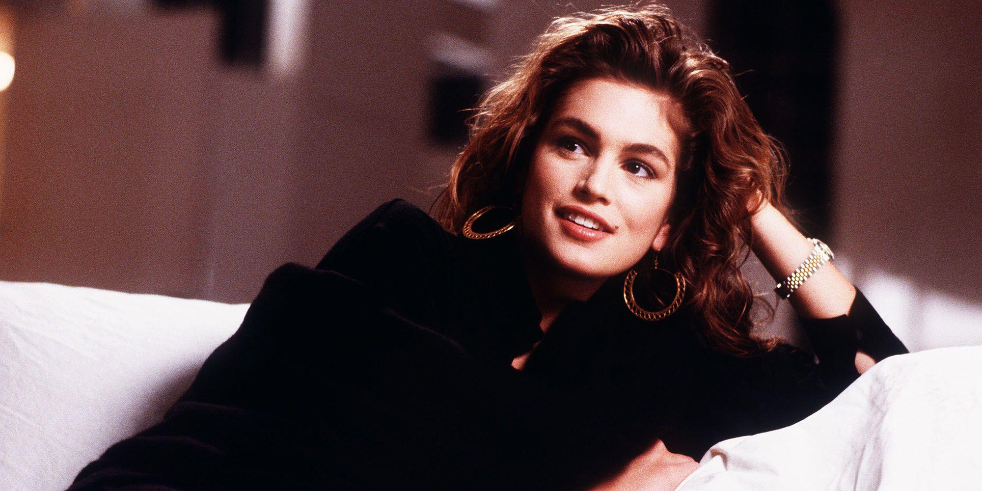 người mẫu thời trang cindy crawford trong những năm 1990