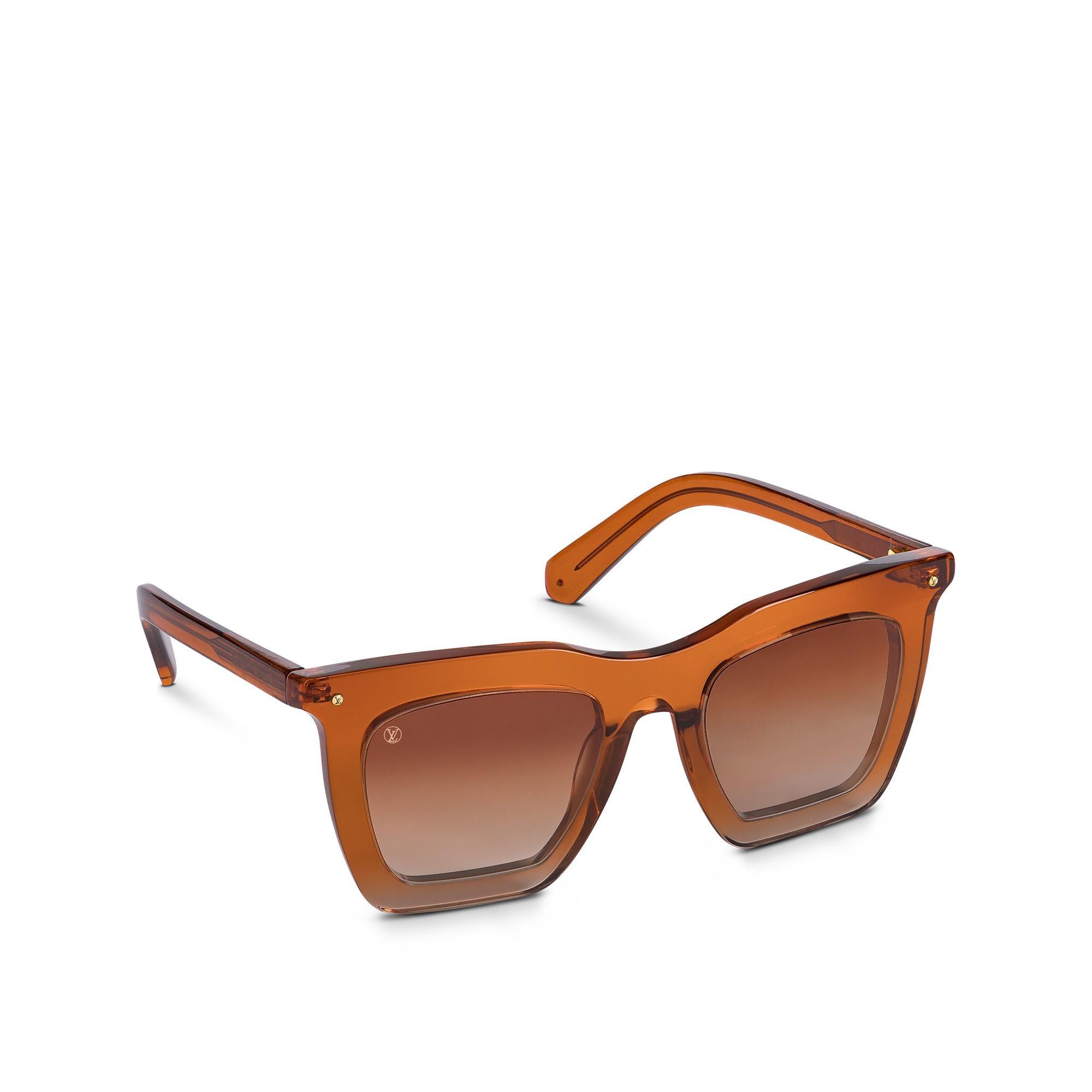 Mắt kính gọng nhựa trong Louis Vuitton màu nâu