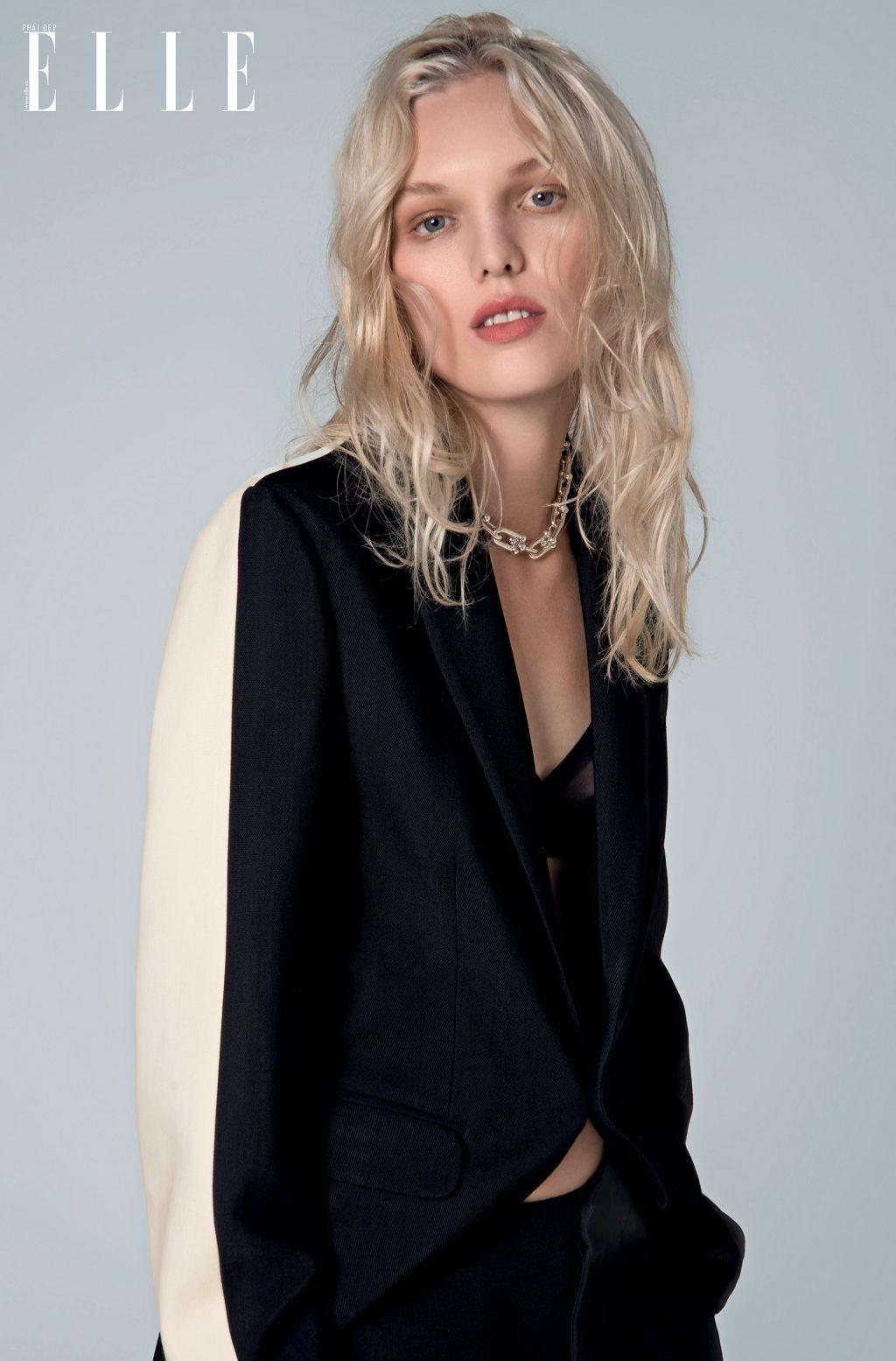 phong cách thời trang menswear trang phục blazer trắng đen