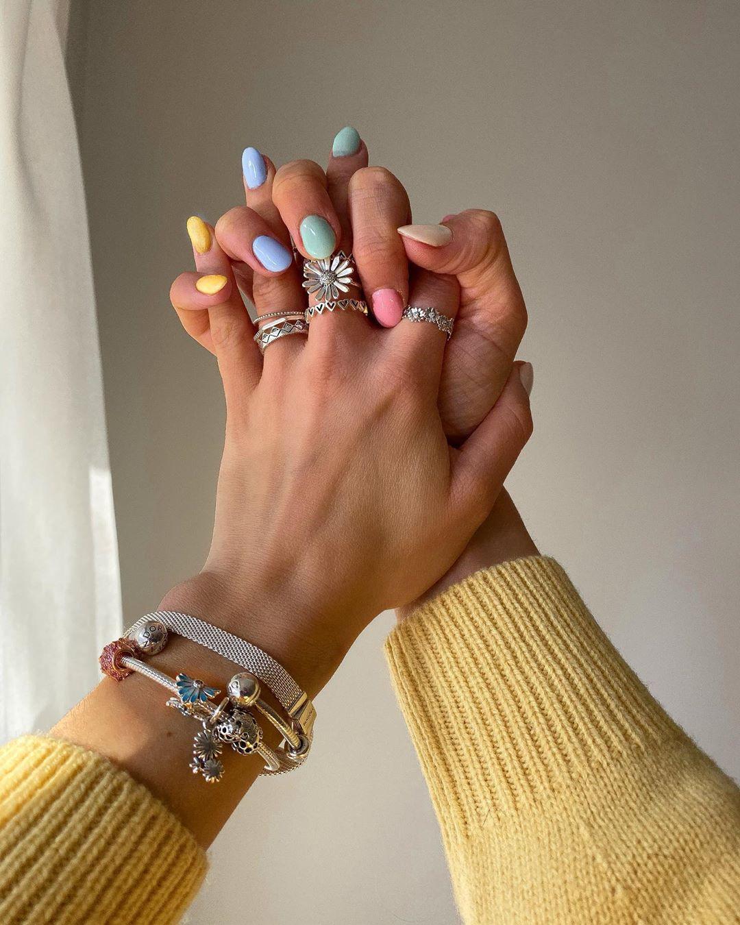 Nhẫn nữ bạc mặt bông hoa, vòng tay statement