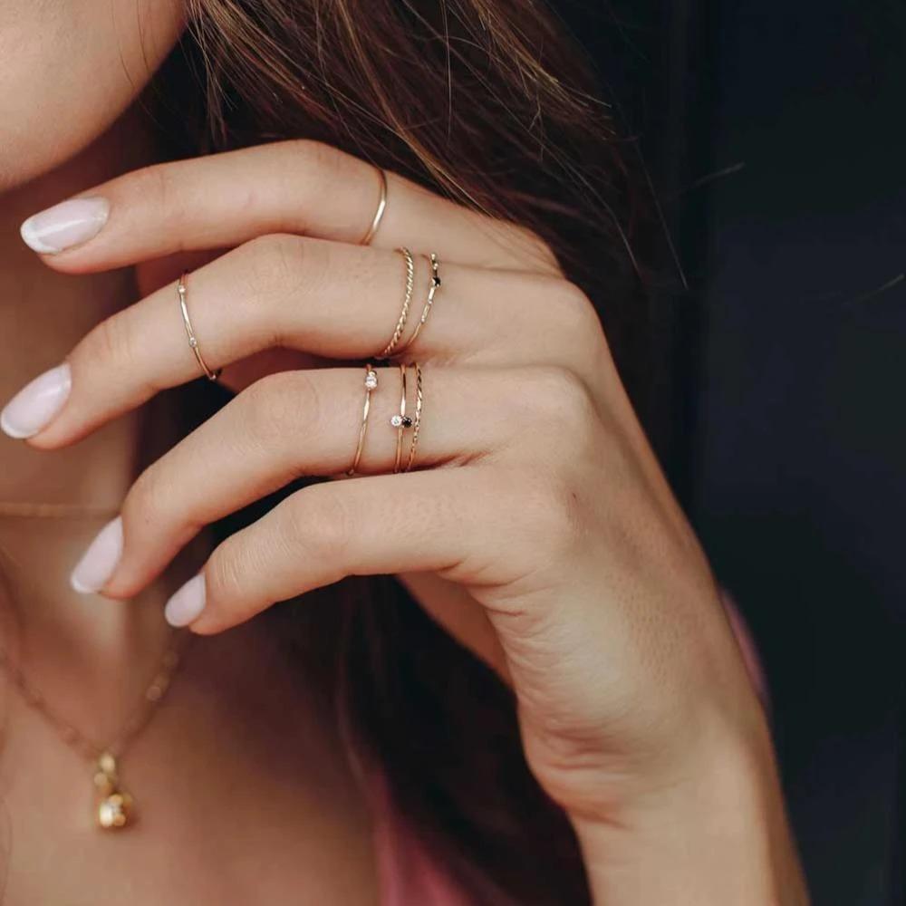 Nhẫn nữ midi thanh mảnh