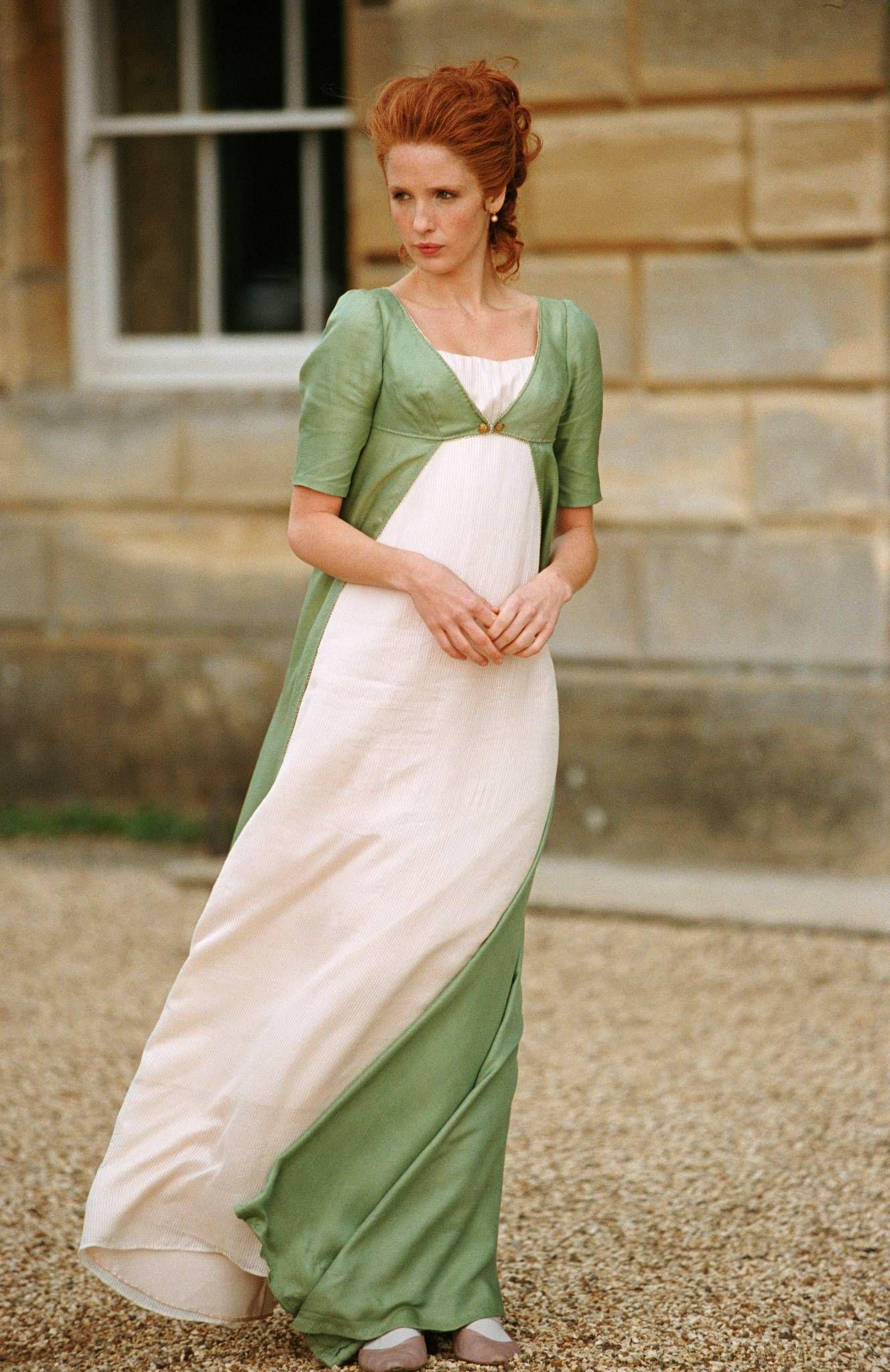 Carolina Bingley váy Empire Silhouette