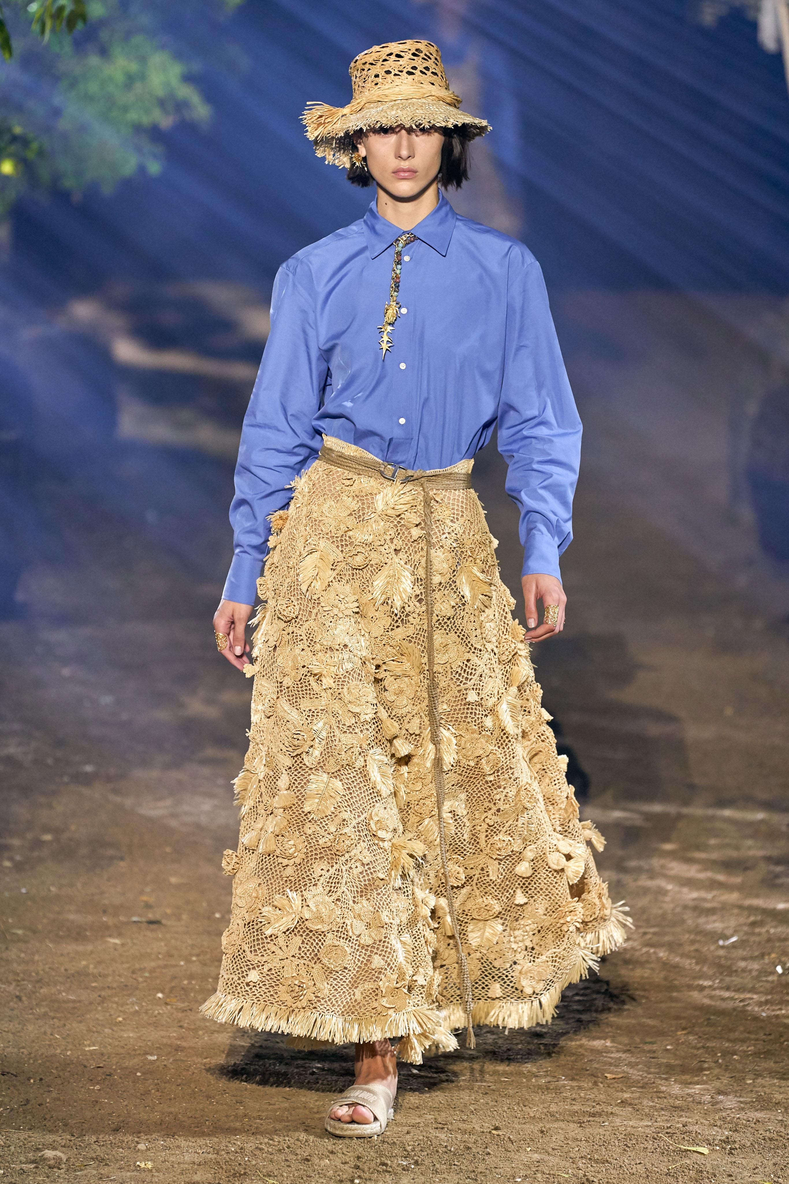 Dép nữ cói trong BST Dior Xuân - Hè 2021