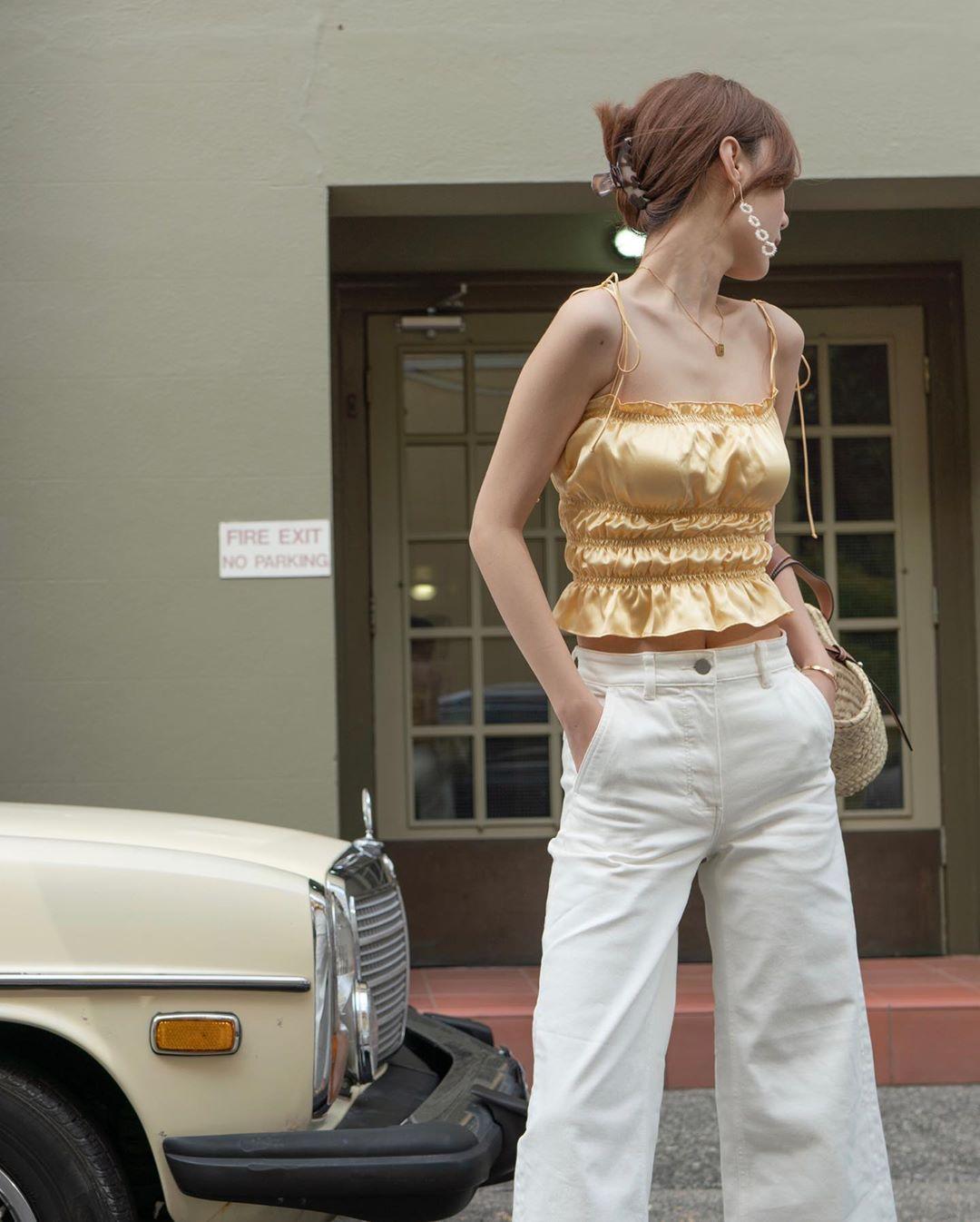 Cách mặc đẹp với áo hai dây mini cho cô gái ngực nhỏ Tik Tok